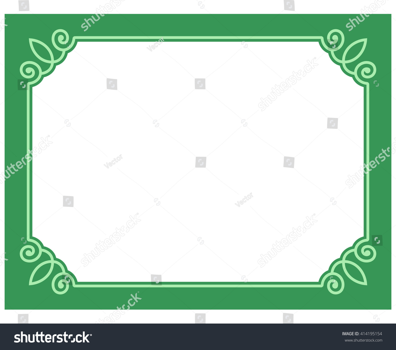 green border frame deco vector art stock vector 414195154 shutterstock. Black Bedroom Furniture Sets. Home Design Ideas