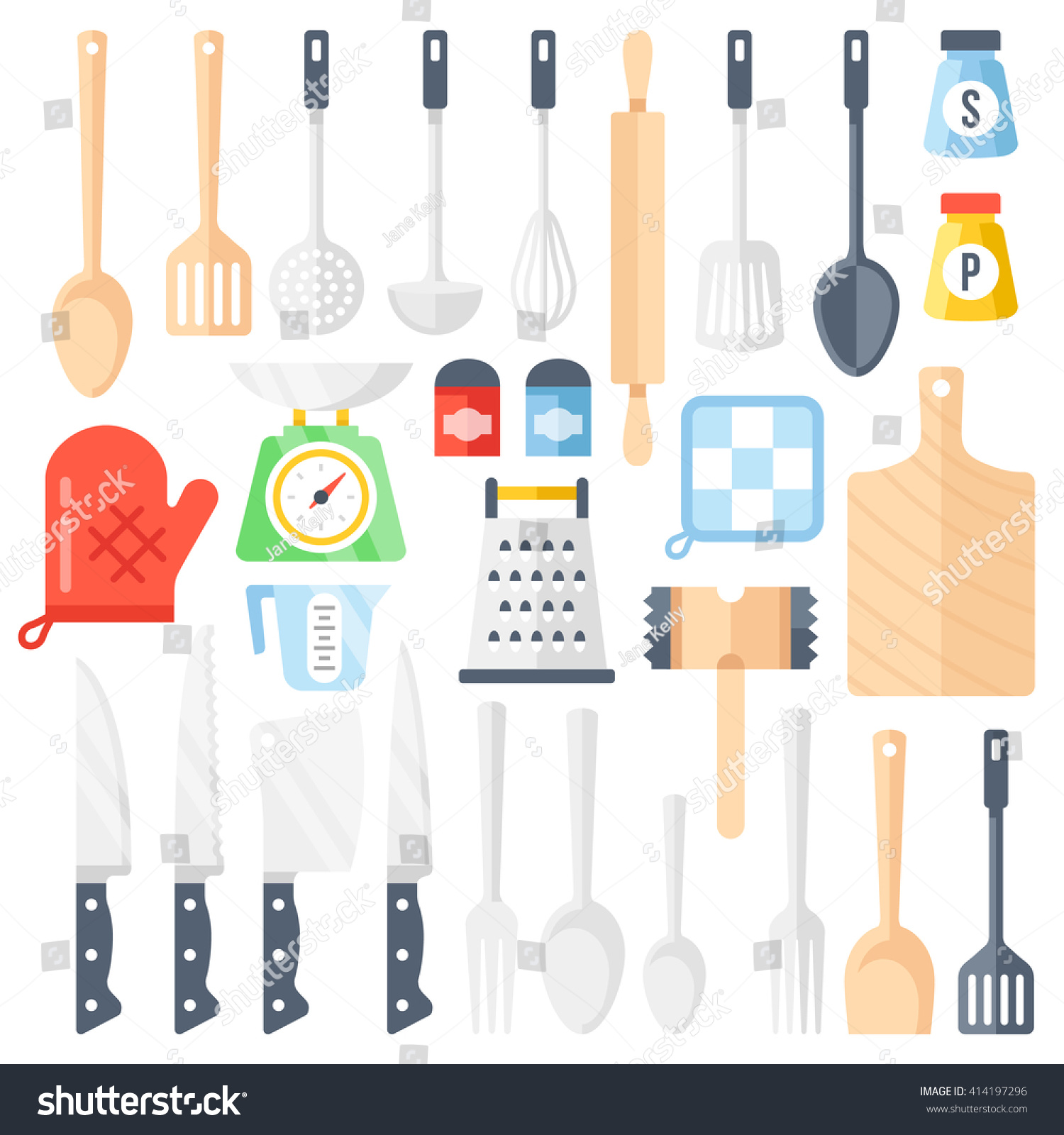 Kitchen tools cooking equipment kitchen utensils stock for Culinary kitchen equipment