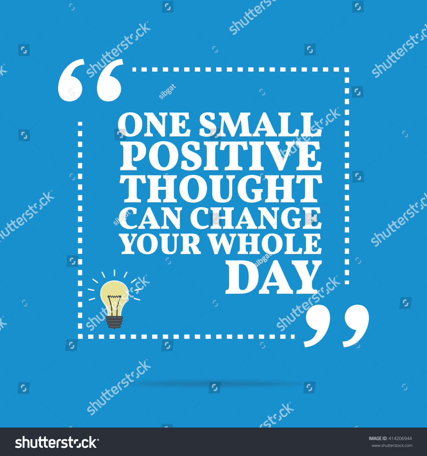Thought Of The Day Motivational Inspirational Motivational Quote One Small Positive Stock Vector