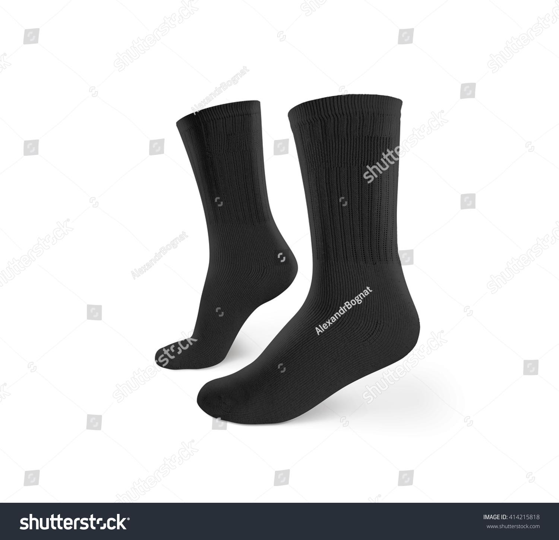 royalty free blank black socks design mockup 414215818 stock