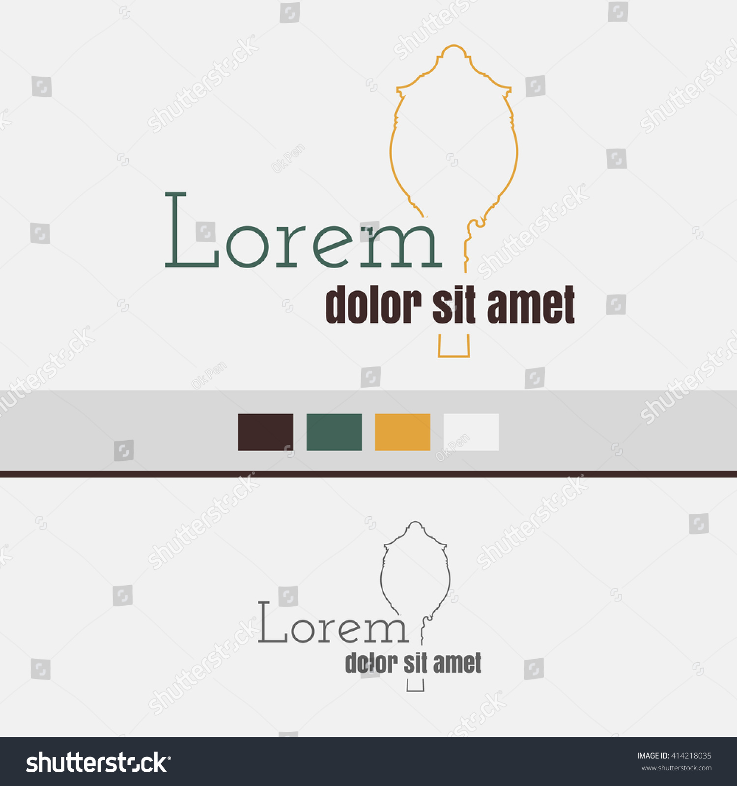 classy chair logo design. Vector logo with line street clock icon Logo Line Street Clock Icon Stock 414218035