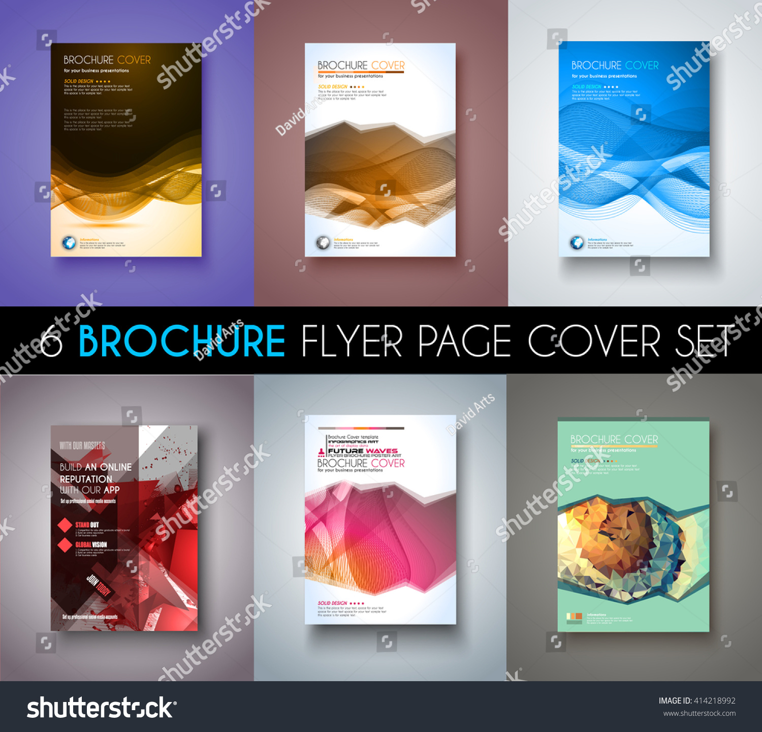 Brochure template flyer design depliant cover stock vector for Marketing brochure template