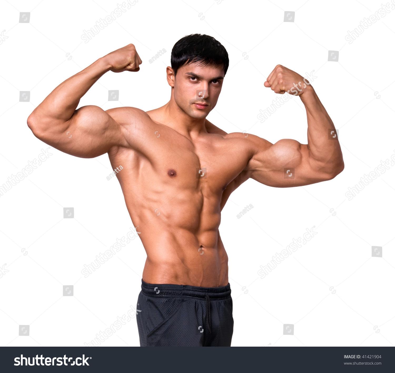 portrait young bodybuilder man stock photo 41421904