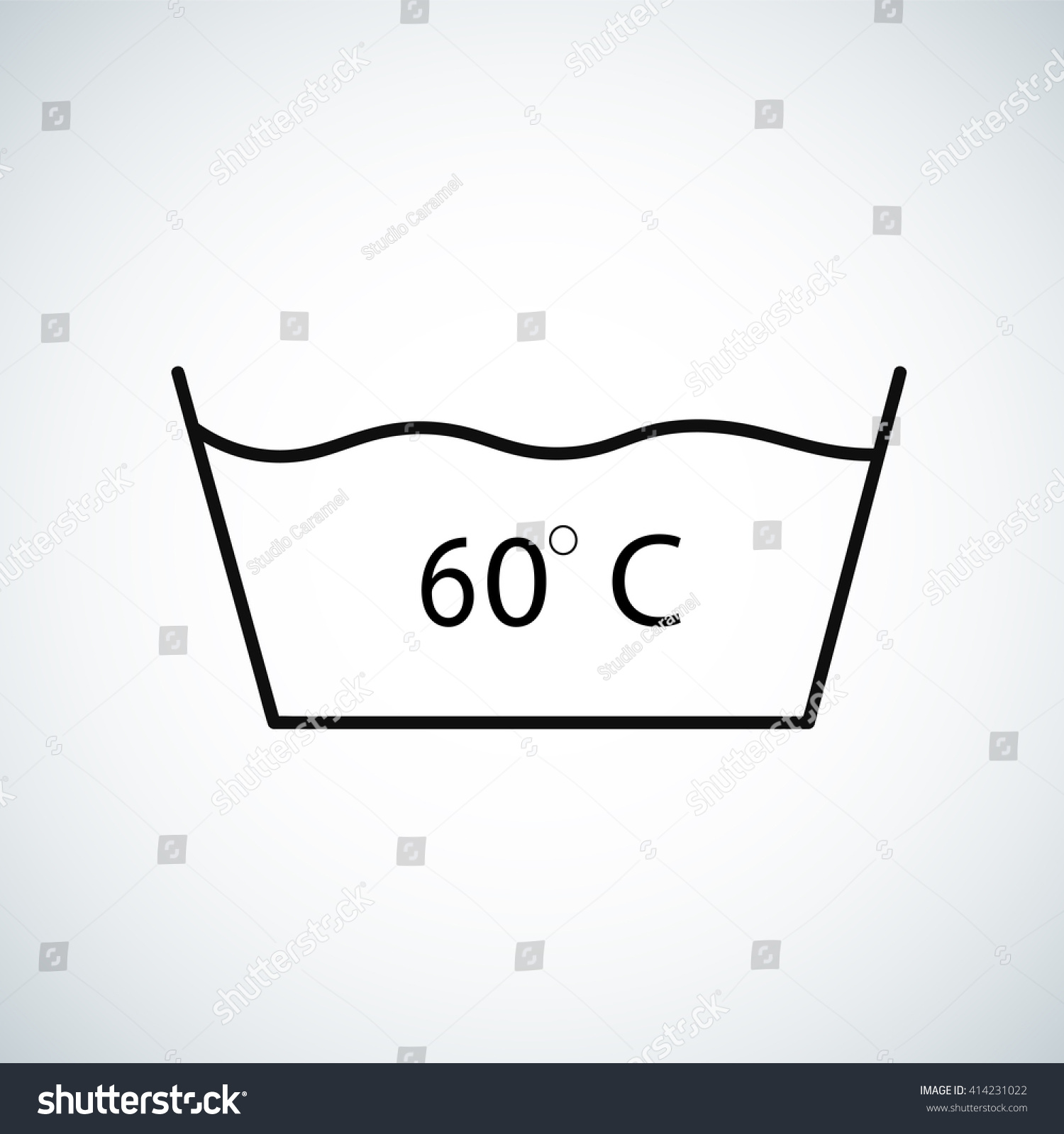 washing under 60 degrees celsius textile stock vector royalty free