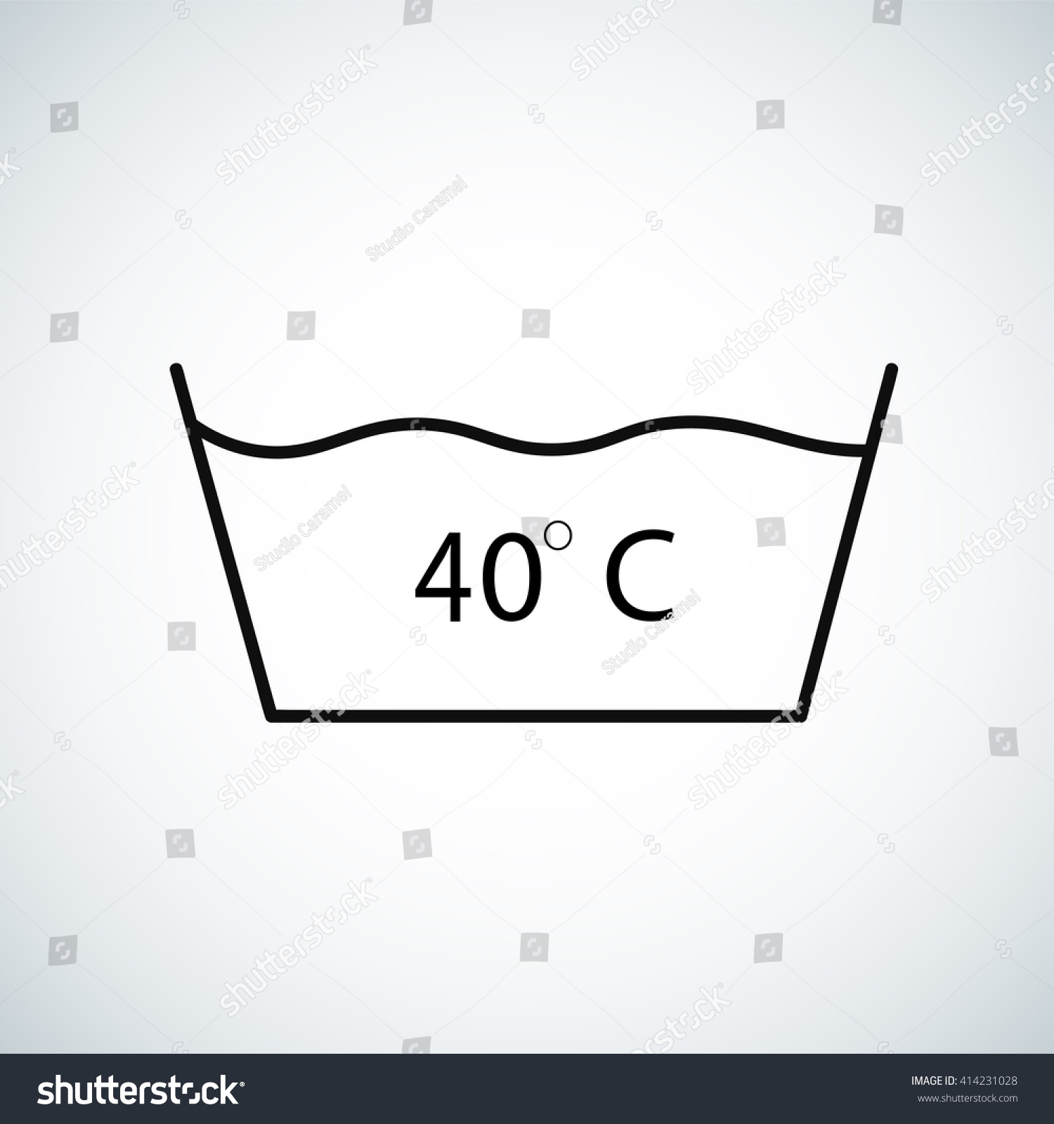 Washing Under 40 Degrees Celsius Textile Stock Vector 414231028