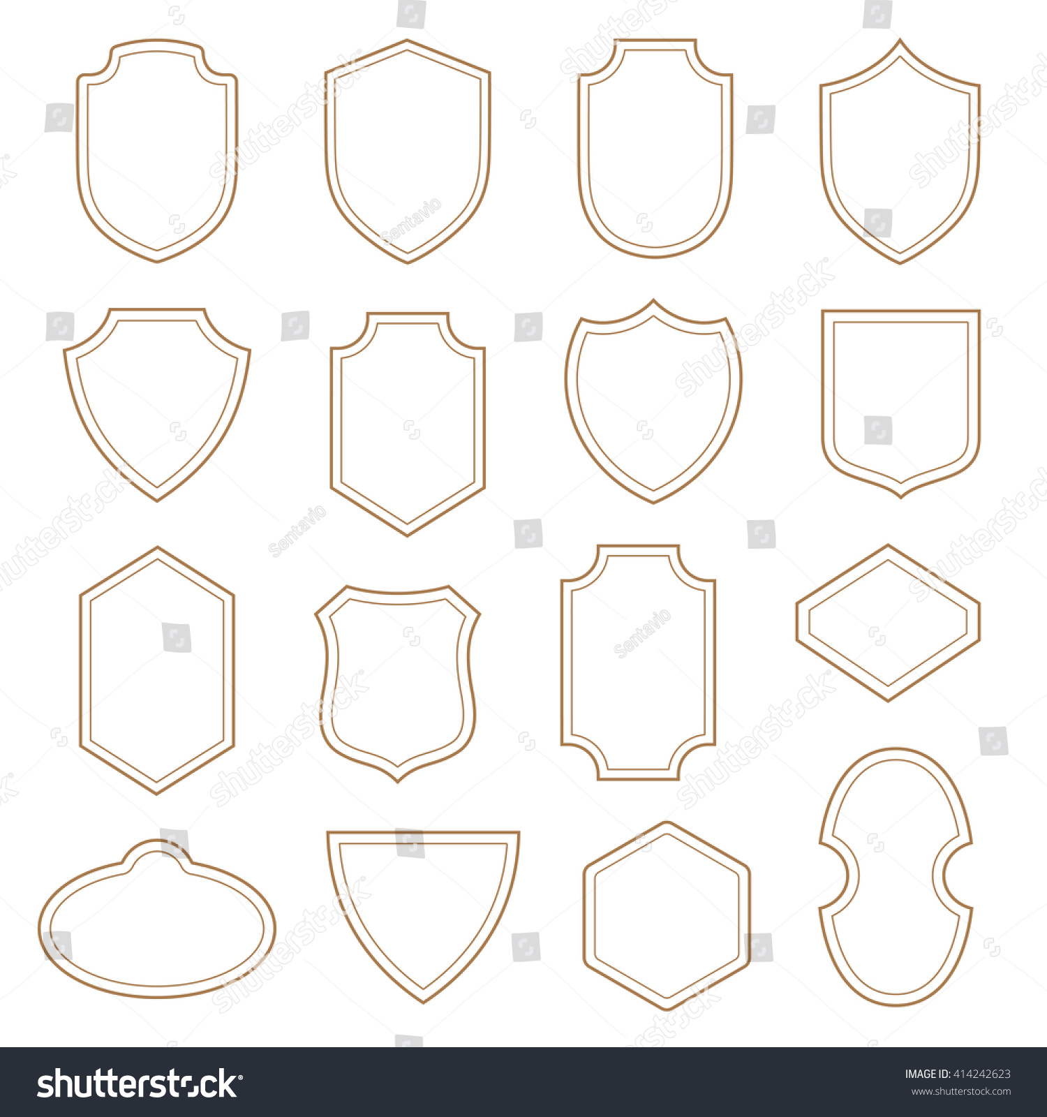 Vintage Labels Badges Shields Collection Vector Stock Vector HD ...