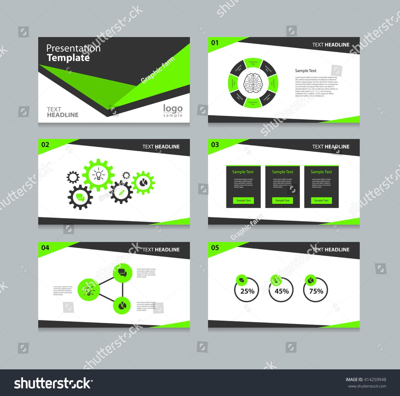 Black Cover Page Design Presentation Slide Stock Vector HD (Royalty ...
