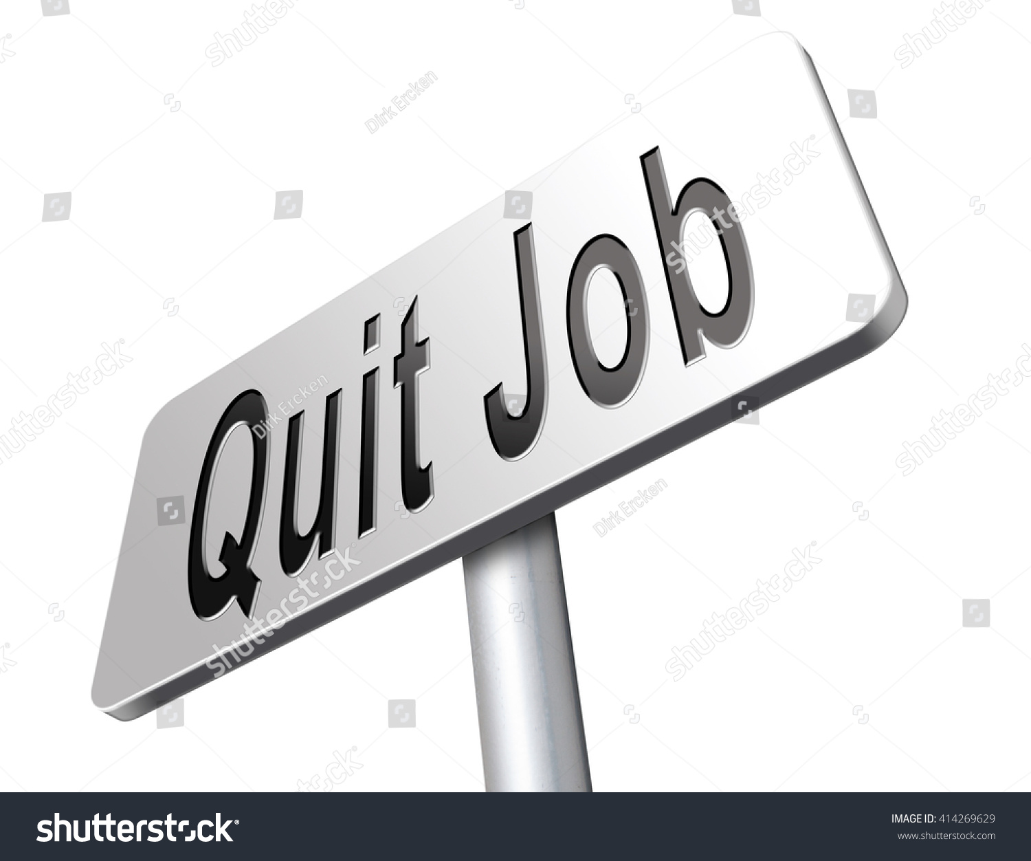 quit job resigning work getting unemployed stock illustration quit job resigning from work and getting unemployed road sign billboard