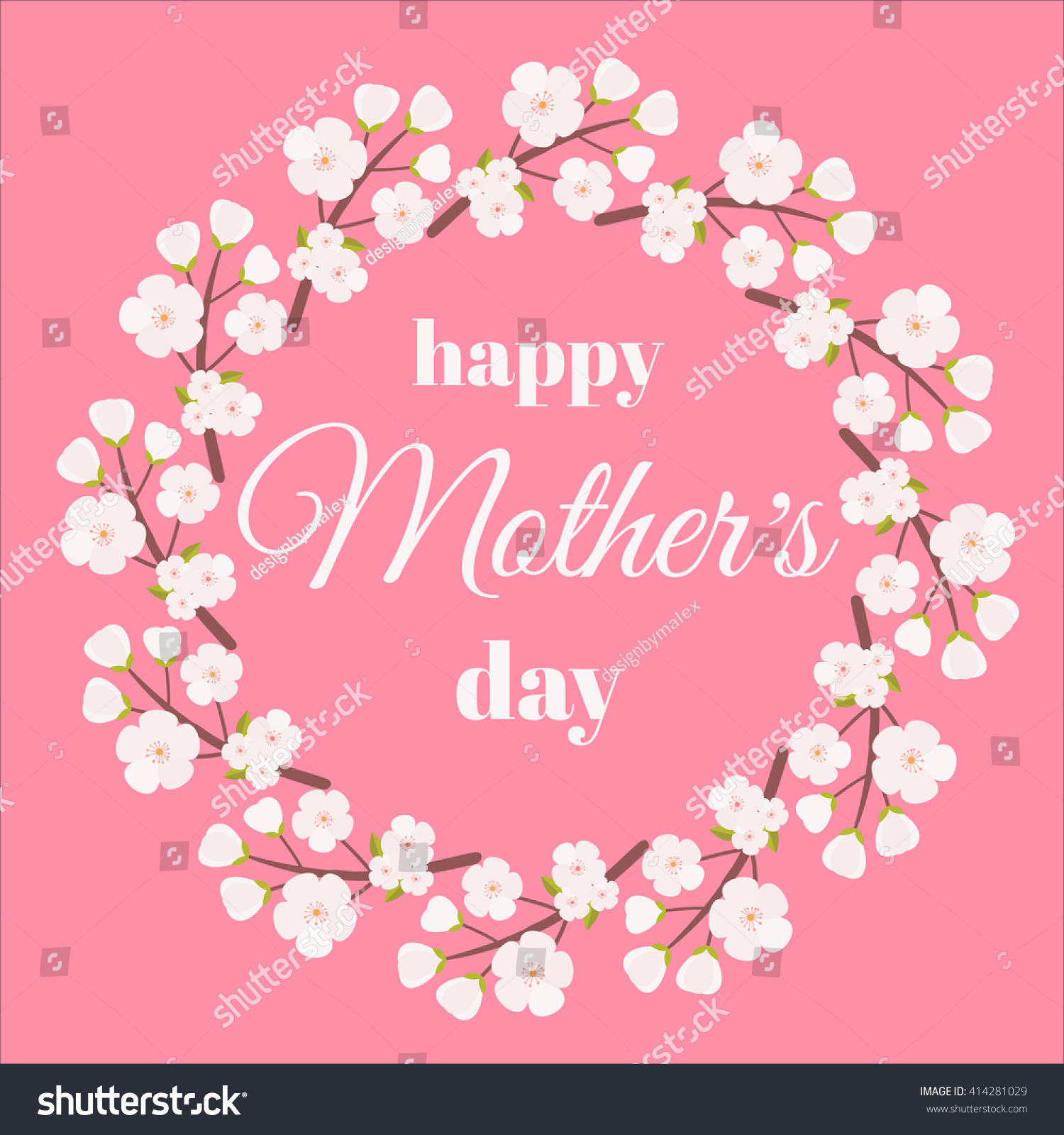 Mother Day Mothers Day Card Happy Stock Vector Royalty Free