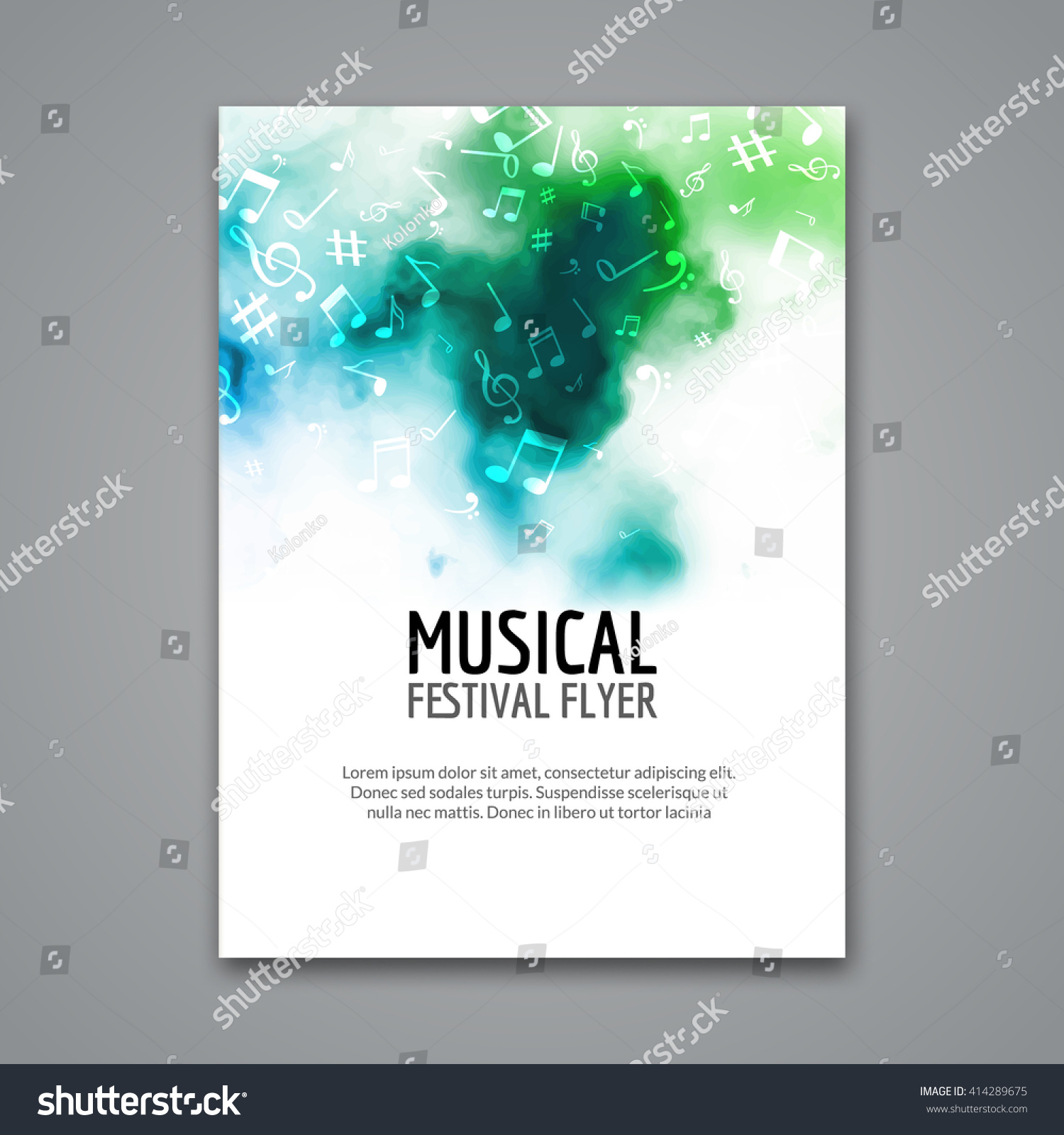 Poster design notes - Colorful Vector Music Poster Festival Concert Template Flyer Musical Flyer Choir Design Poster With Melody