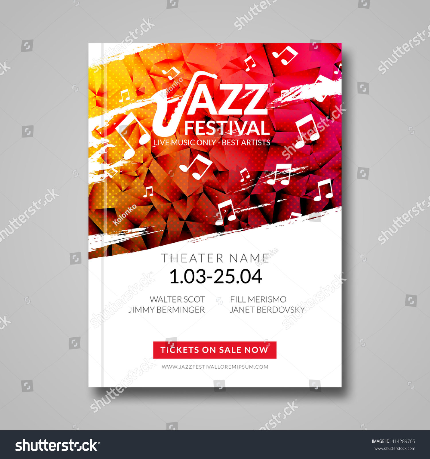 Vector Musical Flyer Jazz Festival Music Vector 414289705 – Music Brochure