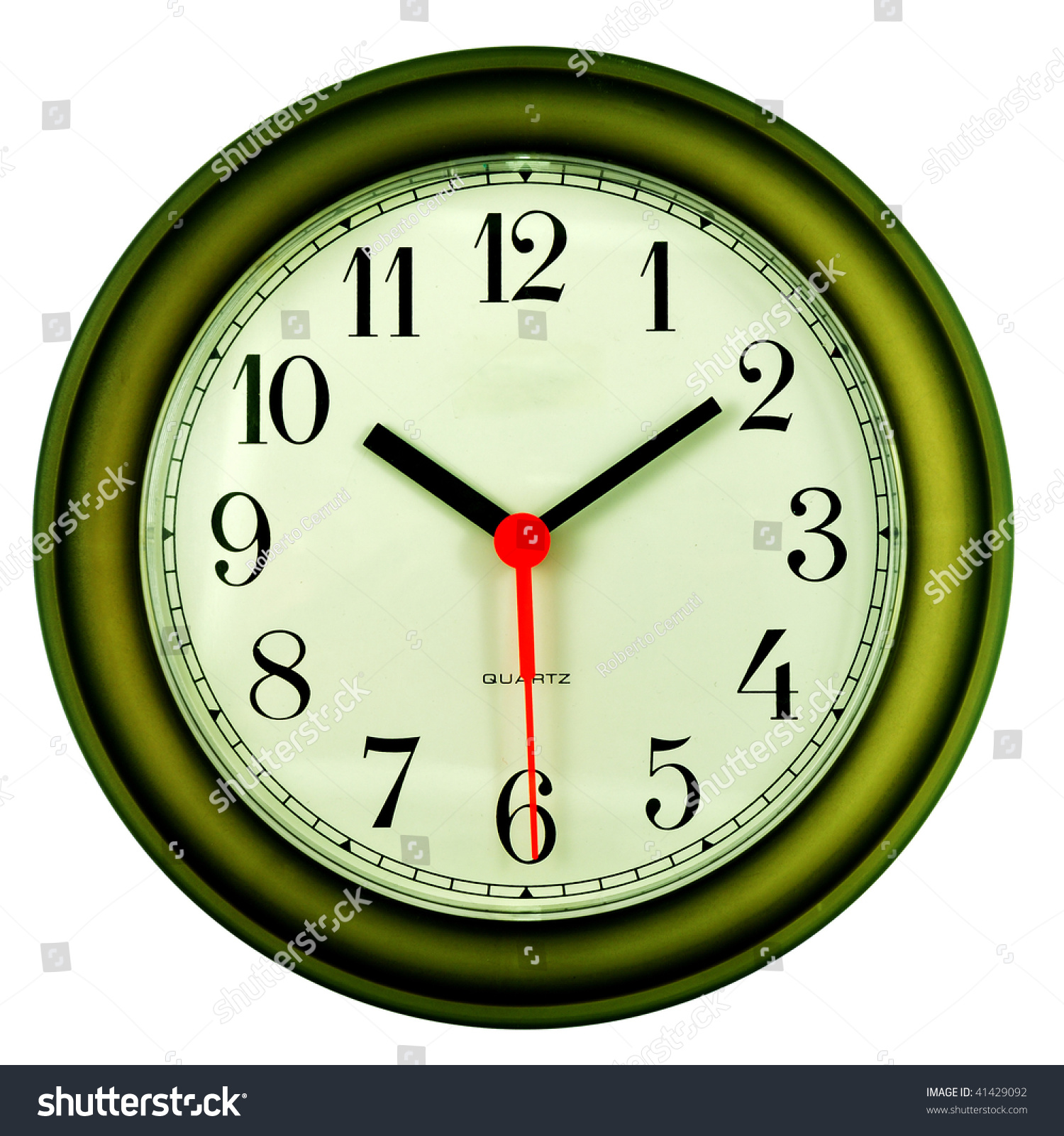 Clock On Ten Past Ten 30 Stock Photo 41429092 Shutterstock