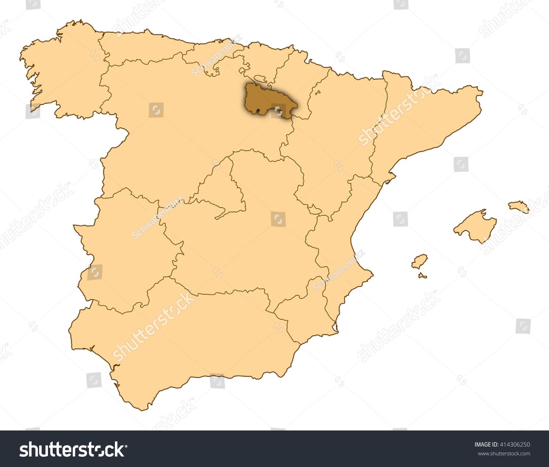 Map Of Spain Rioja.Map Spain La Rioja Stock Illustration Royalty Free Stock