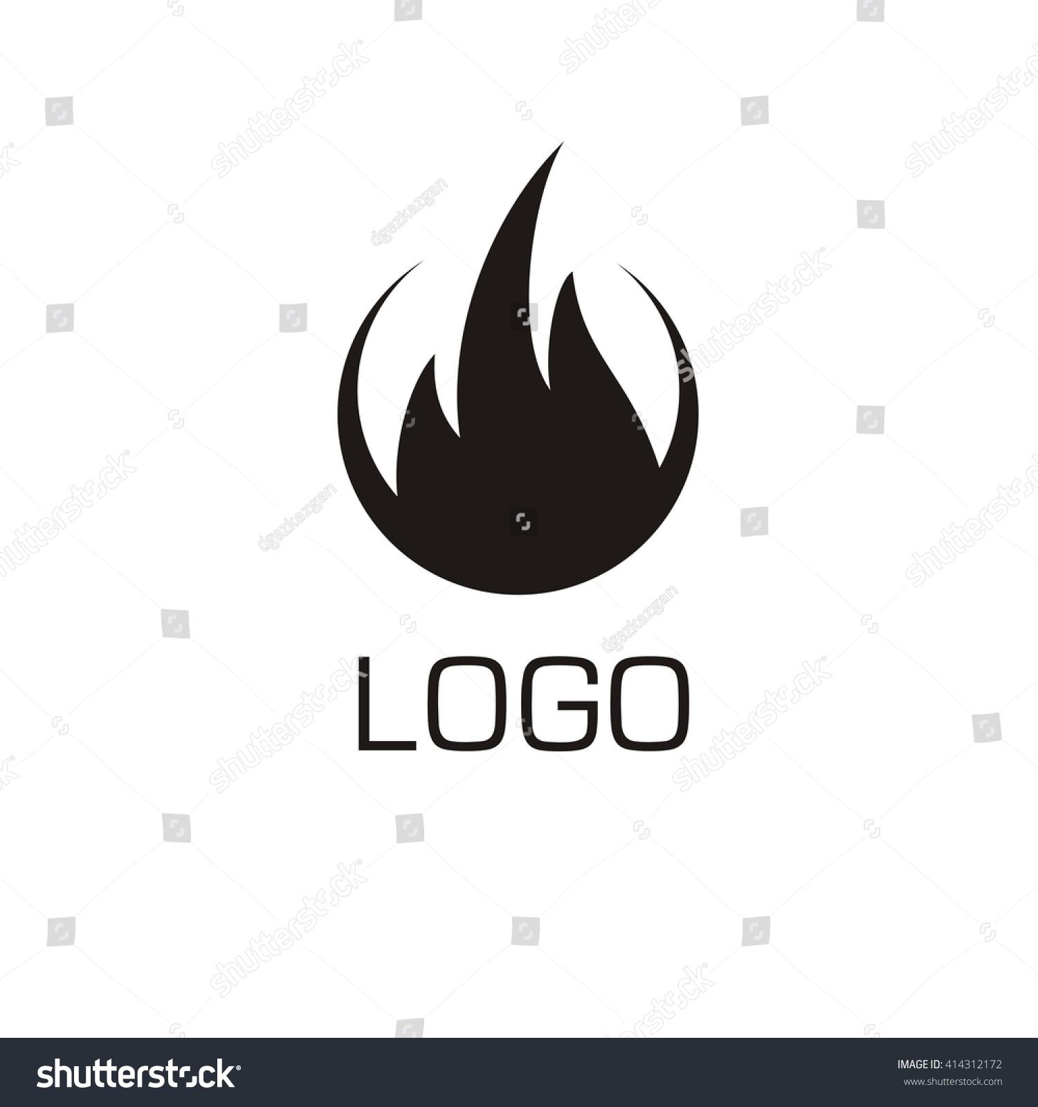 Vector Fire Icon Fire Logo Business Stock Vector 414312172