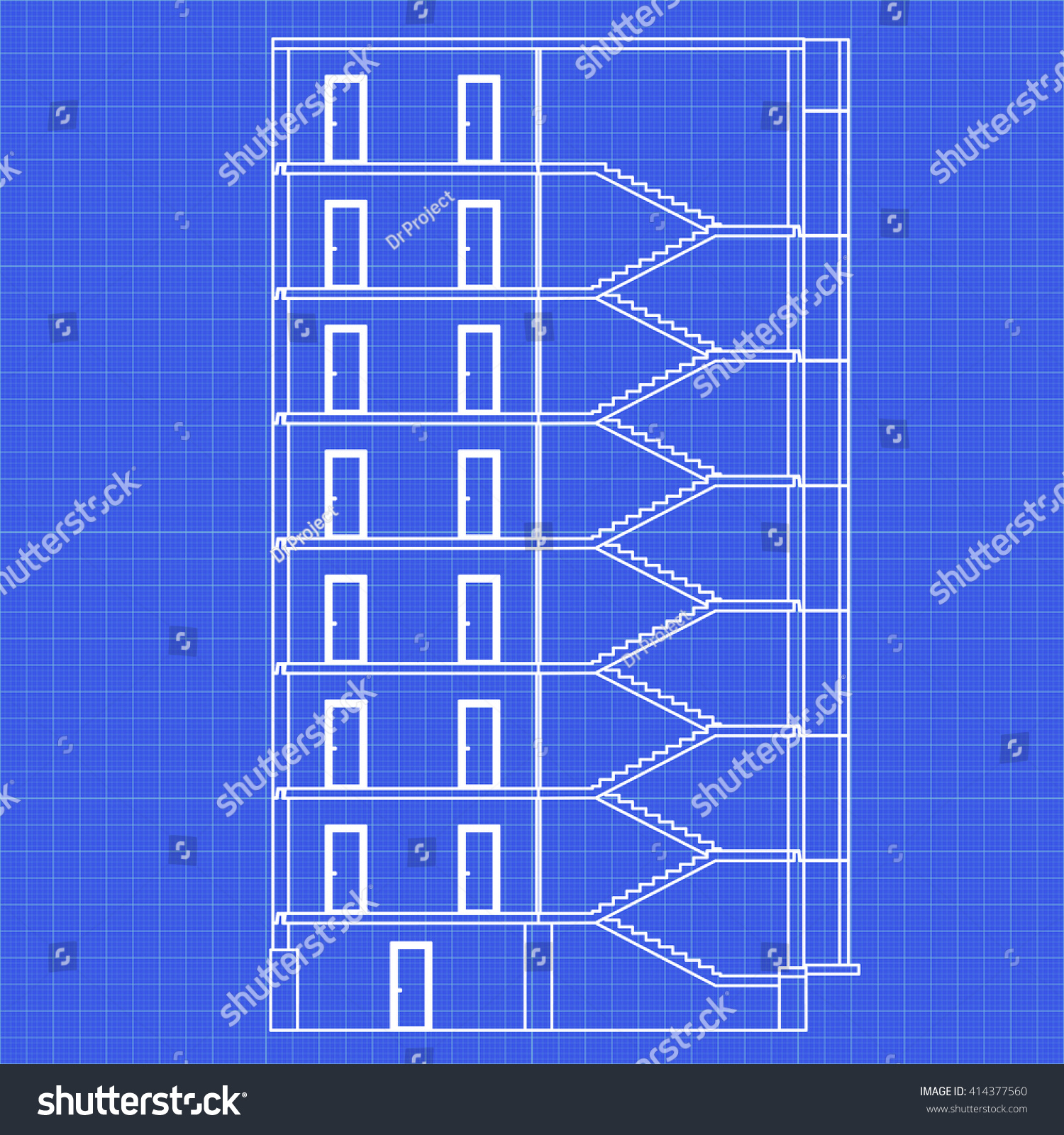 Detailed multistorey building crosssection house vector stock vector detailed multi storey building cross section house vector blueprint malvernweather Choice Image