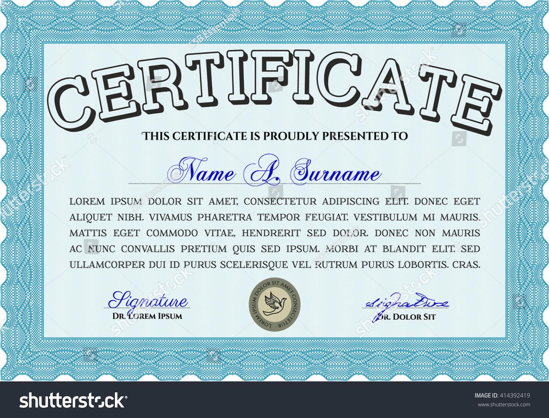 Certificate template certificate eps10 certificate jpg stock certificate template certificate eps10 certificate jpg stock vector 414392419 shutterstock yelopaper Choice Image