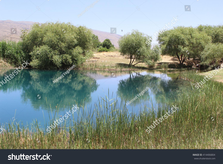 Firuzabad iran may 2015 view natural for Lake front view