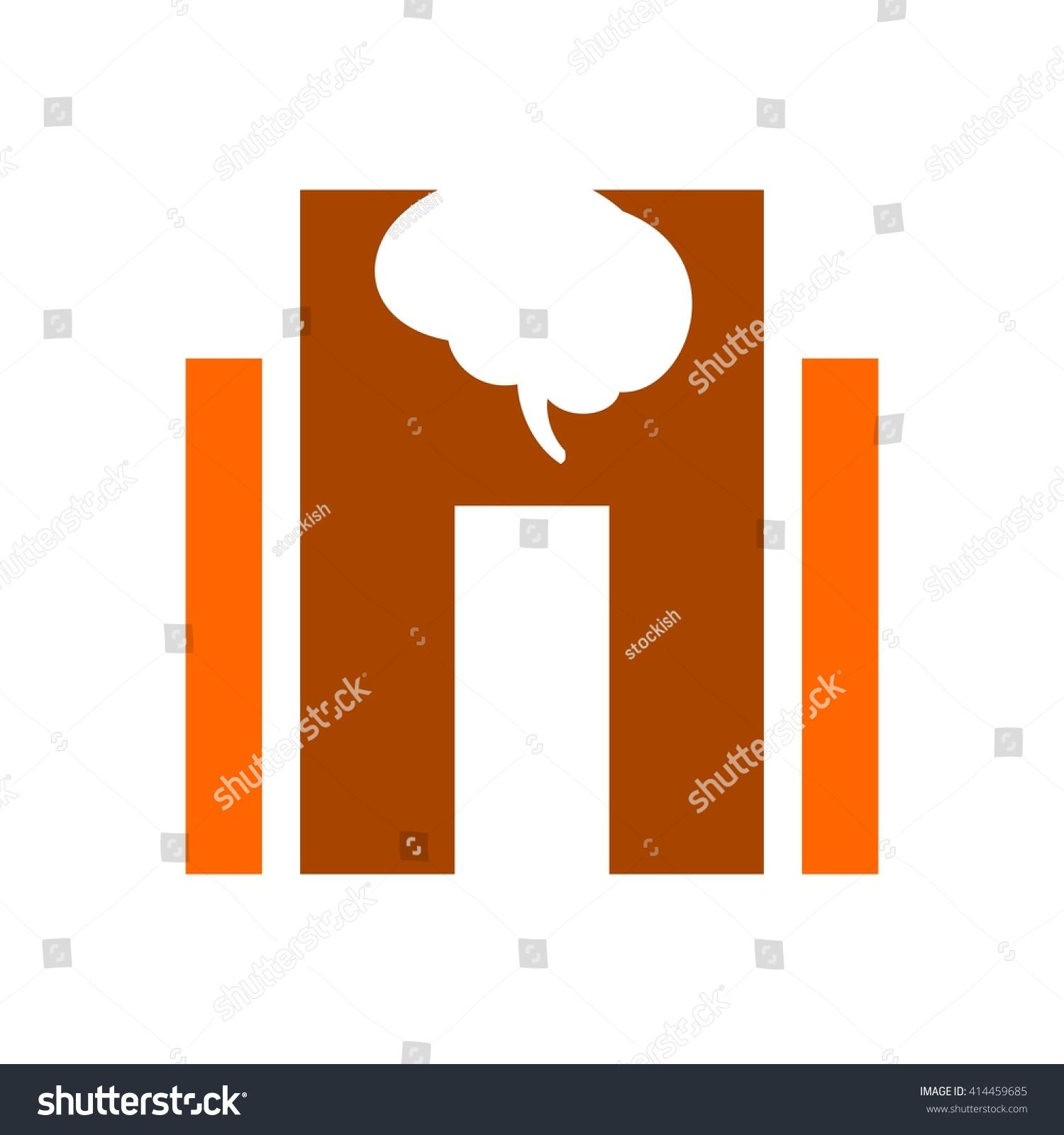 Letter h brain symbol logo vector stock vector 414459685 shutterstock letter h and brain symbol logo vector biocorpaavc Images
