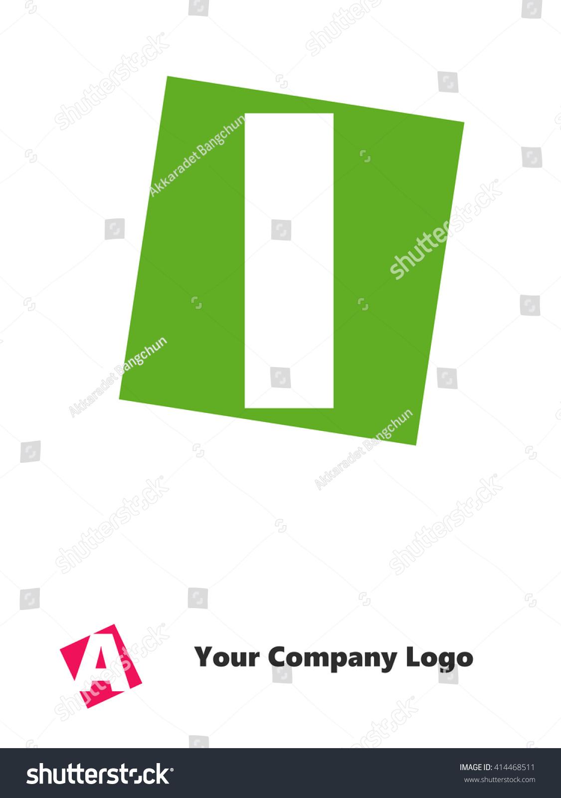 Letter Alphabet Design On Color Rectangle Stock Illustration ...