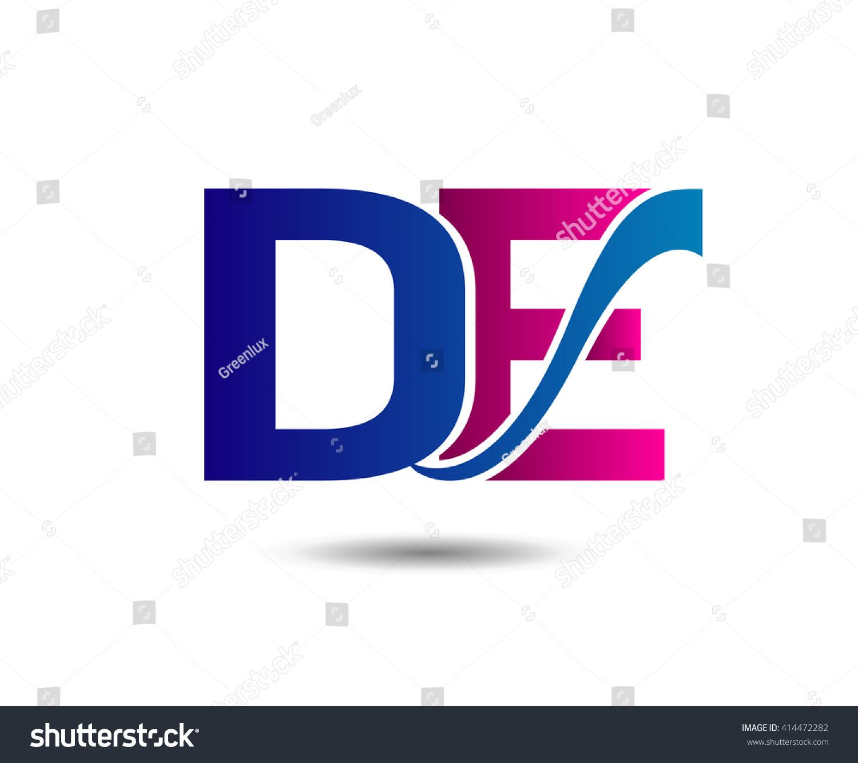 letter d e logo de stock vector royalty free 414472282 shutterstock