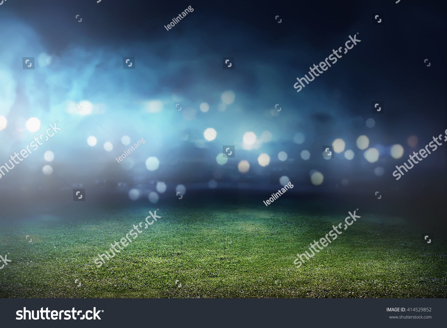 Image of empty football stadium background. You can put your design #414529852