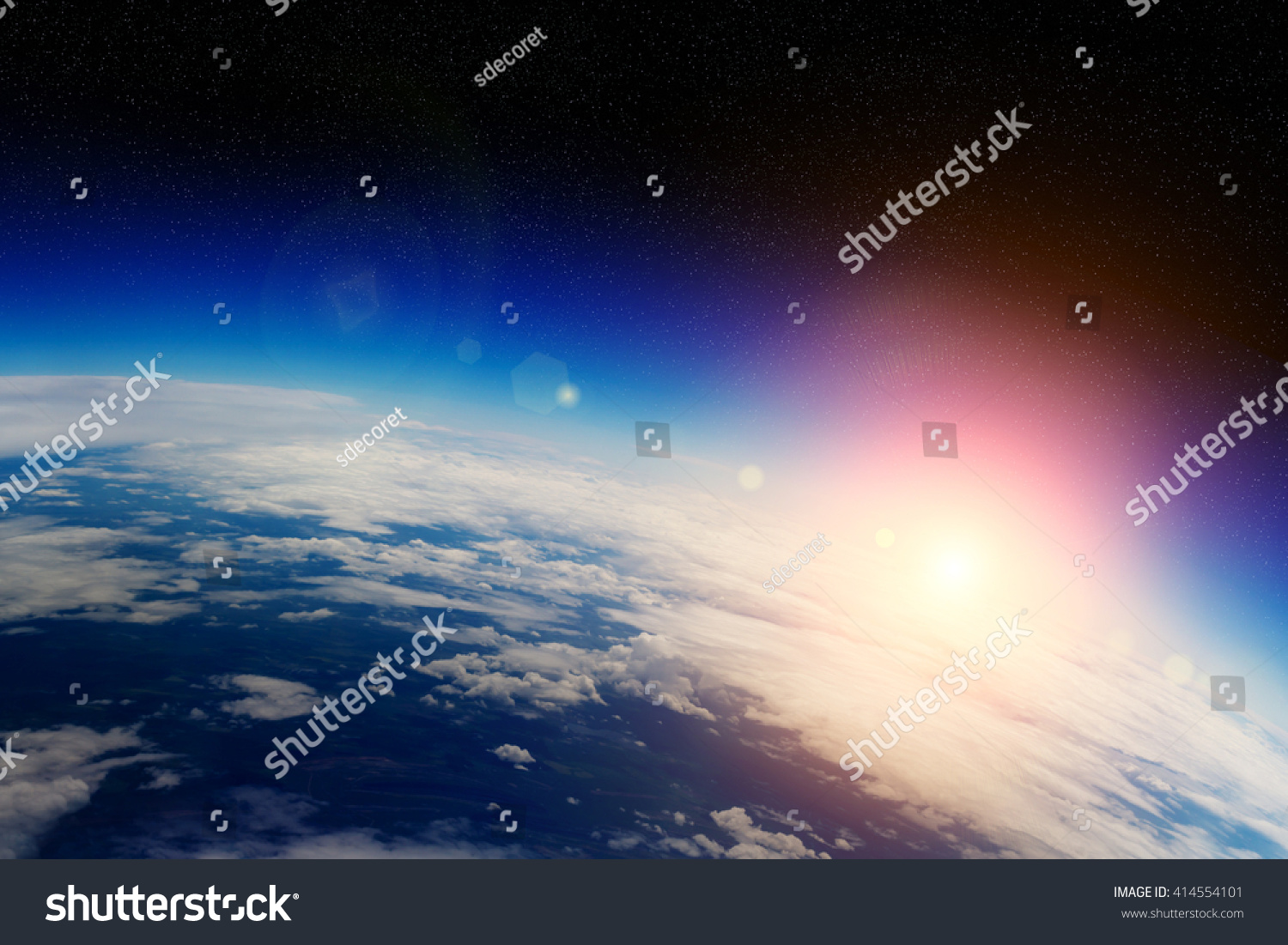 View of the planet Earth from space during a sunrise elements of this image furnished by NASA'