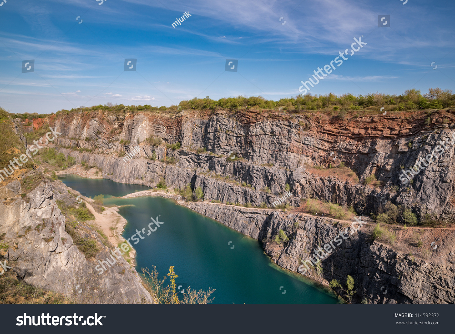 Limestone Quarry Near Prague Known Its Stock Photo (Edit Now
