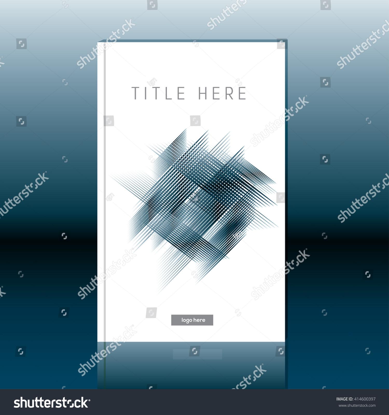 Book Cover Design Abstract : Abstract book cover design brochure report stock vector