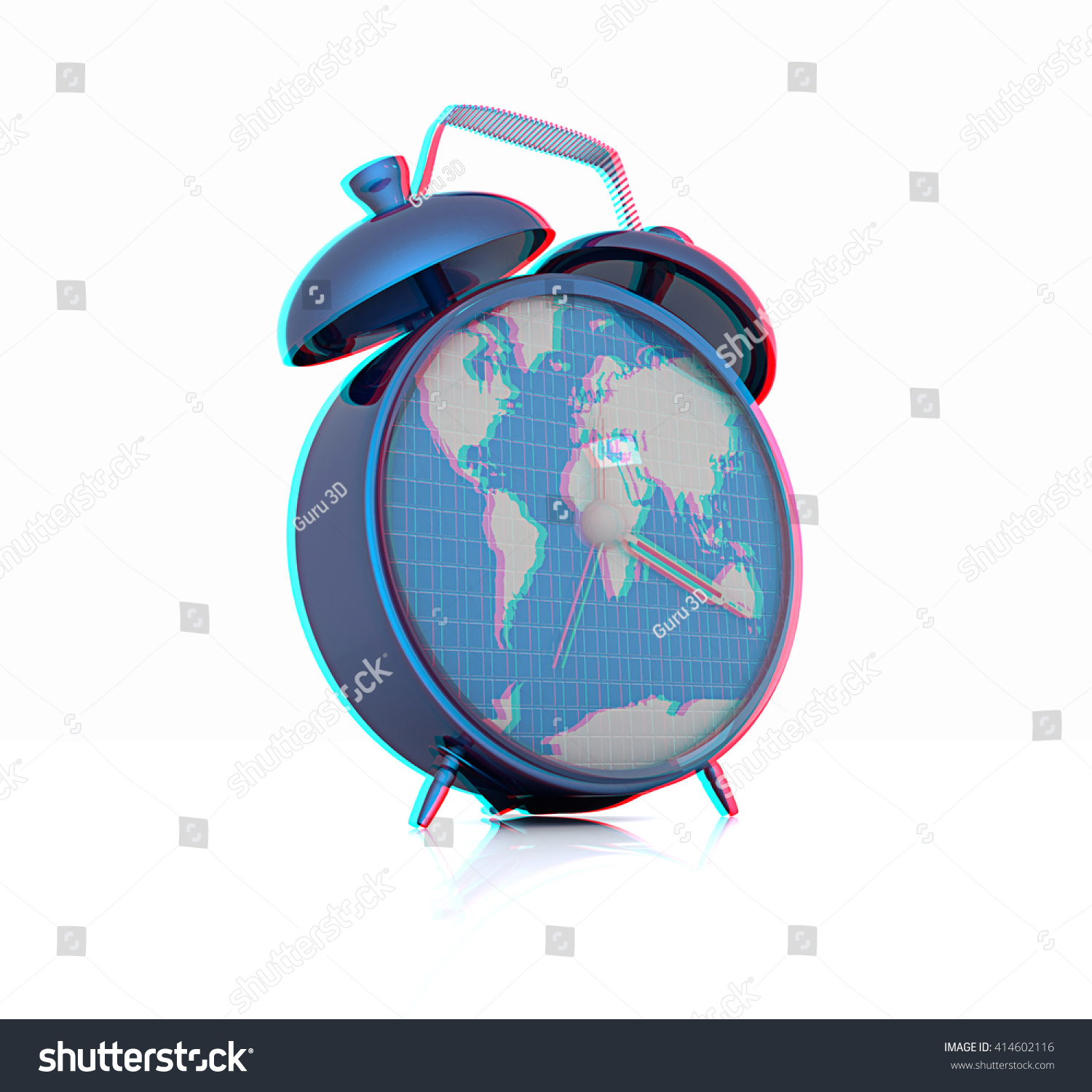 World Map 3d View.Royalty Free Stock Illustration Of Clock World Map 3 D Illustration