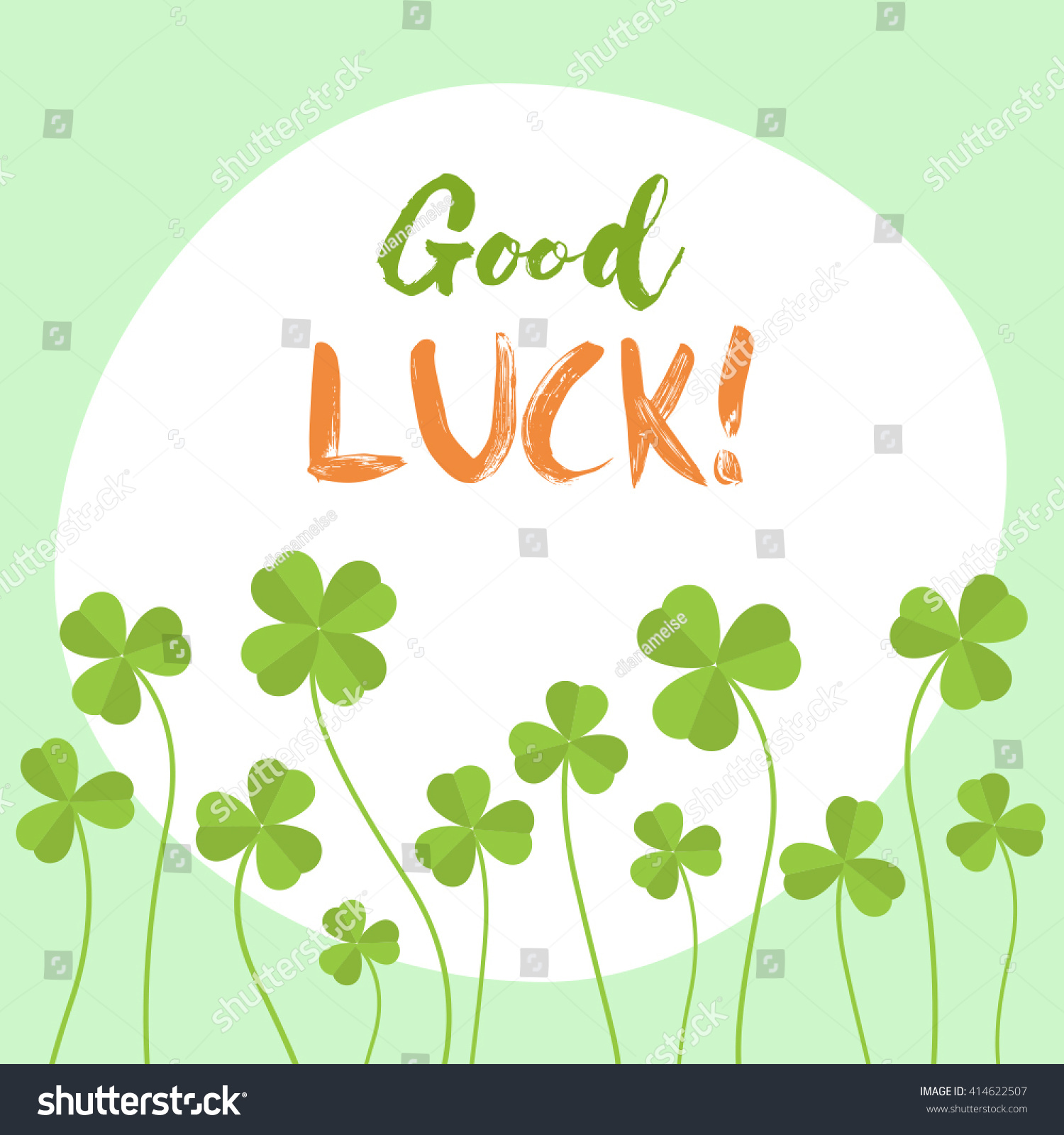 How To Have Good Luck good luck flat vector card have stock vector 414622507 - shutterstock