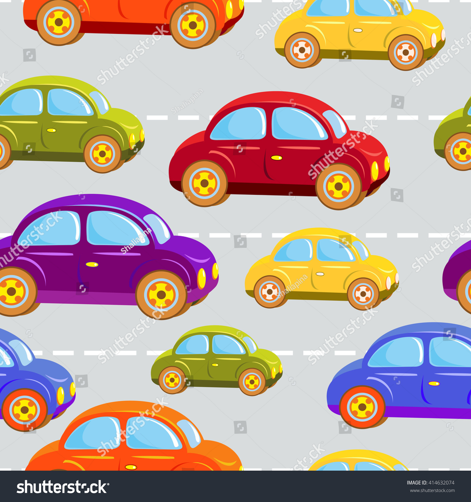 Toy Car Kids Cars All Colors Stock Vector Shutterstock