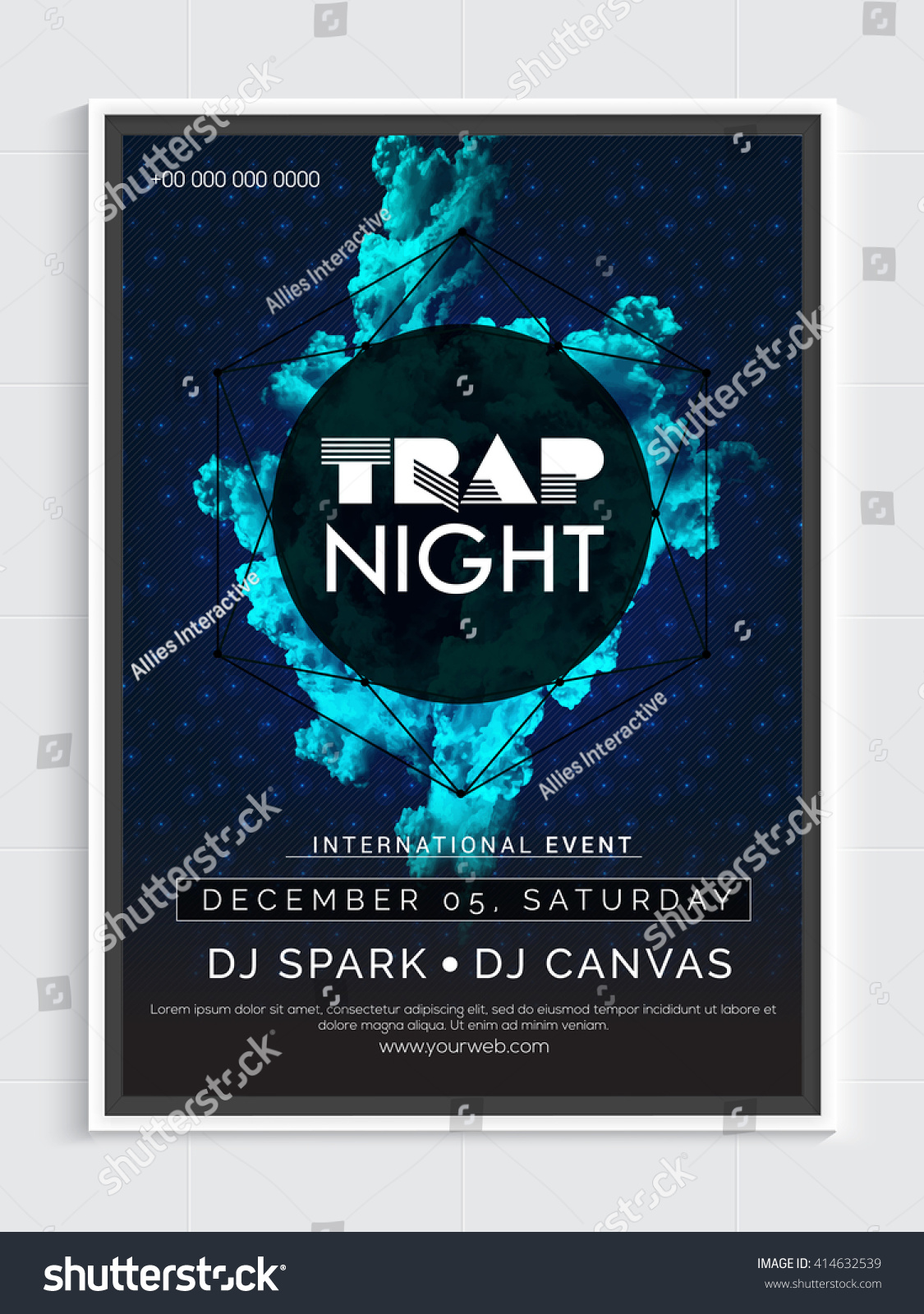 trap night party template dance party stock vector 414632539 trap night party template dance party flyer night party banner or club invitation design