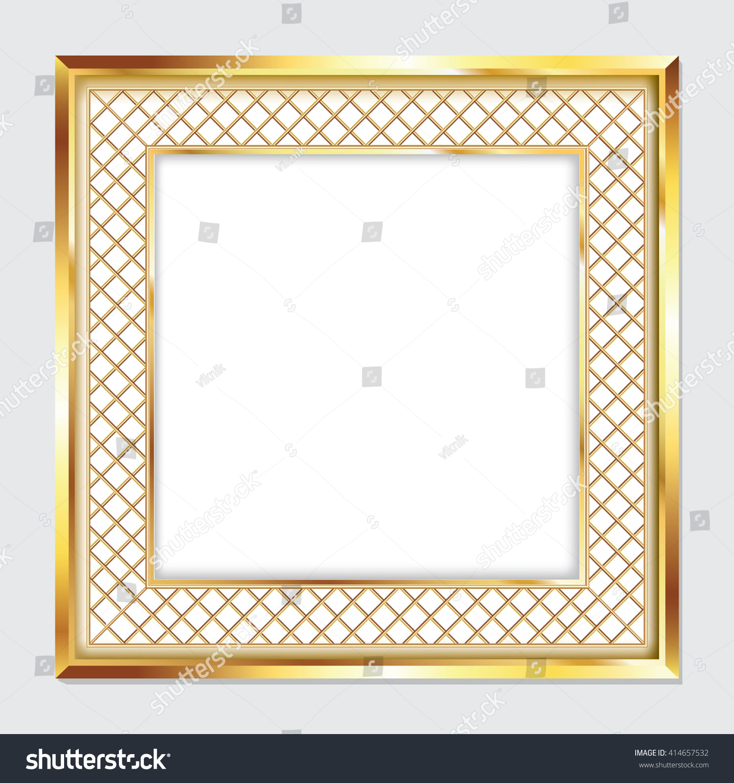 Square Gold Frame Pictures Images Stock Photo (Photo, Vector ...