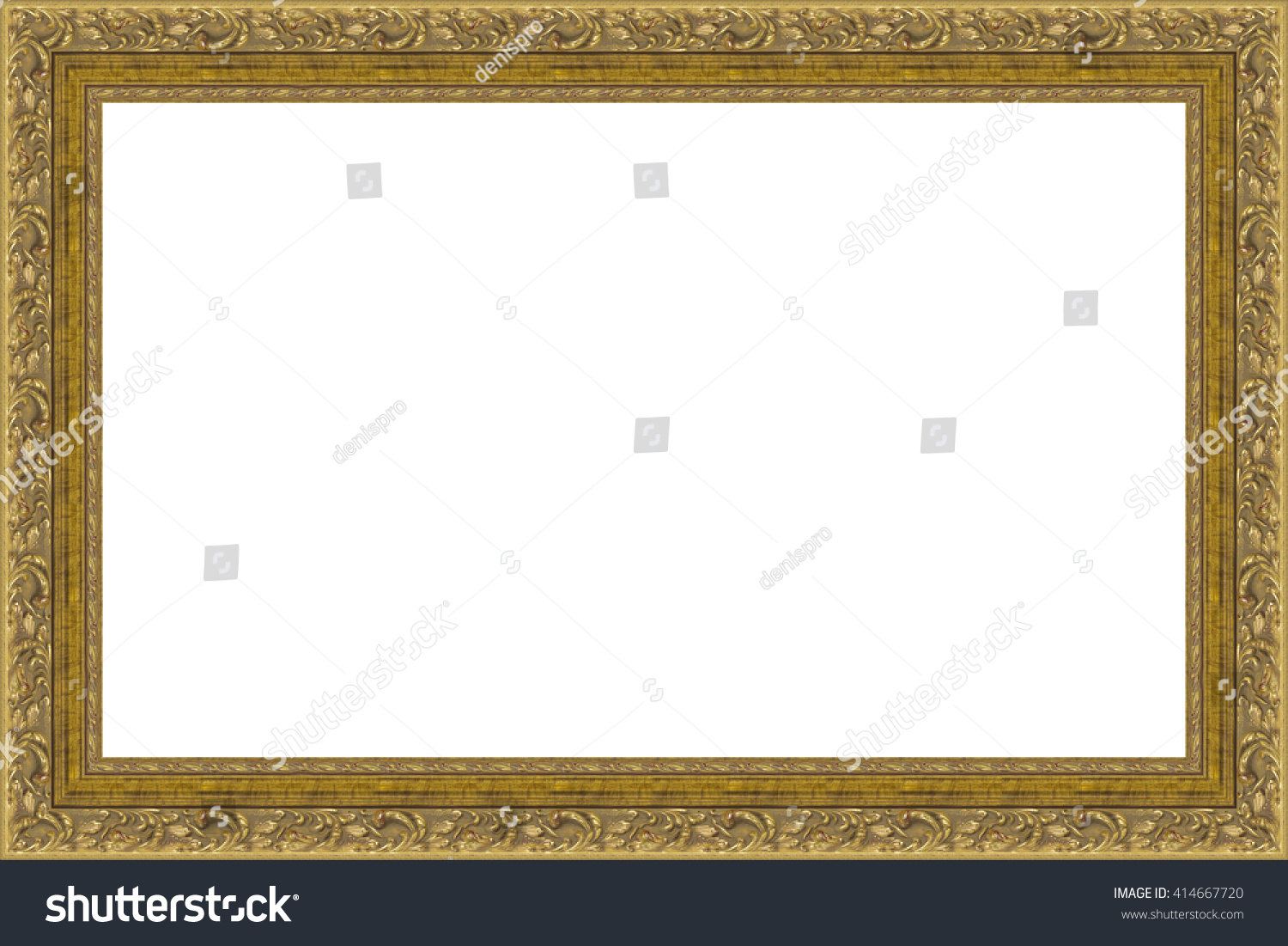 Picture frame isolated on white background stock photo 414667720 picture frame isolated on white background jeuxipadfo Gallery