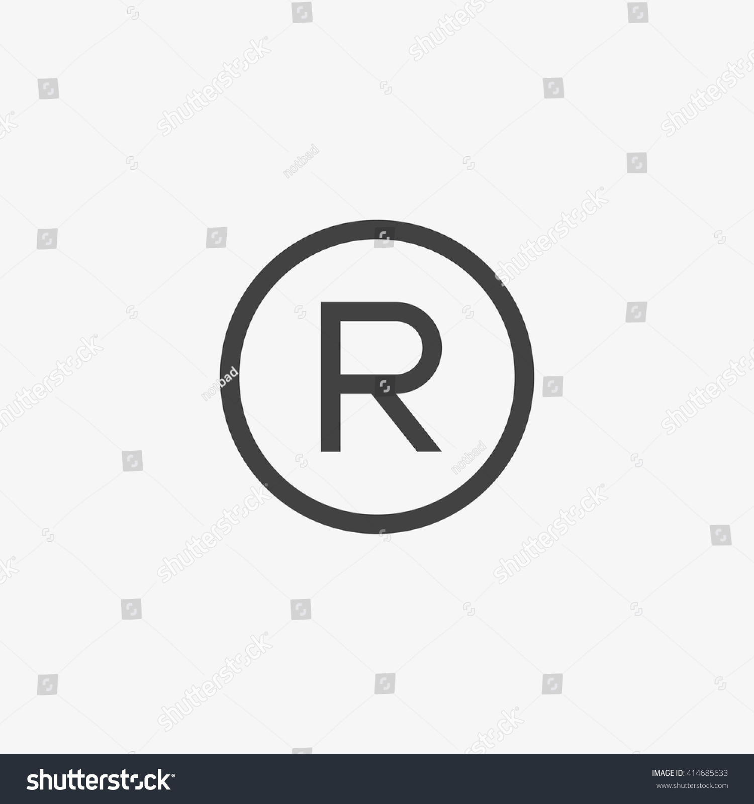 Registered Trademark Symbol Isolated On Grey Stock Vector ...
