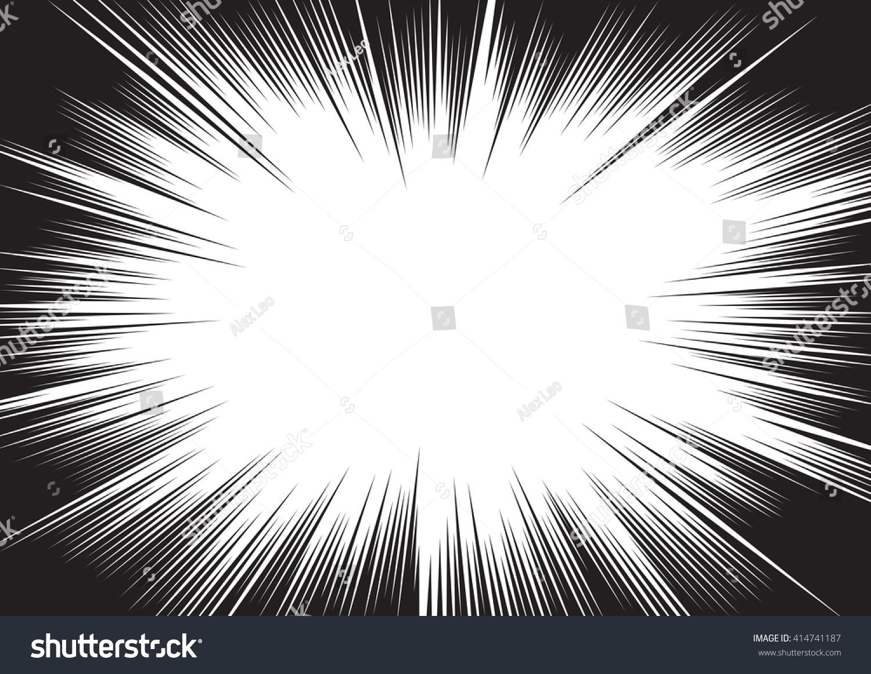 漫画本の放射状の線の背景 まんがスピードフレーム スーパーヒーロー