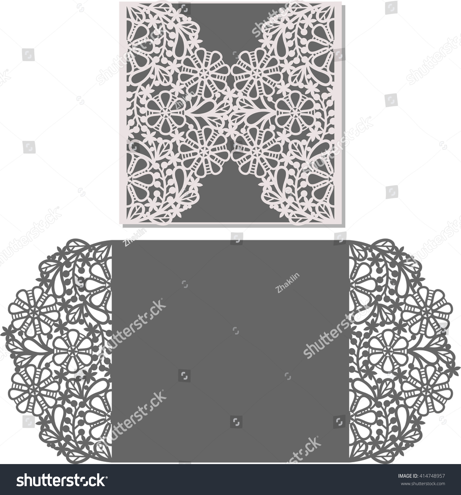Paper Cut Out Card Laser Cut Vector 414748957 Shutterstock – Invitation Card Paper