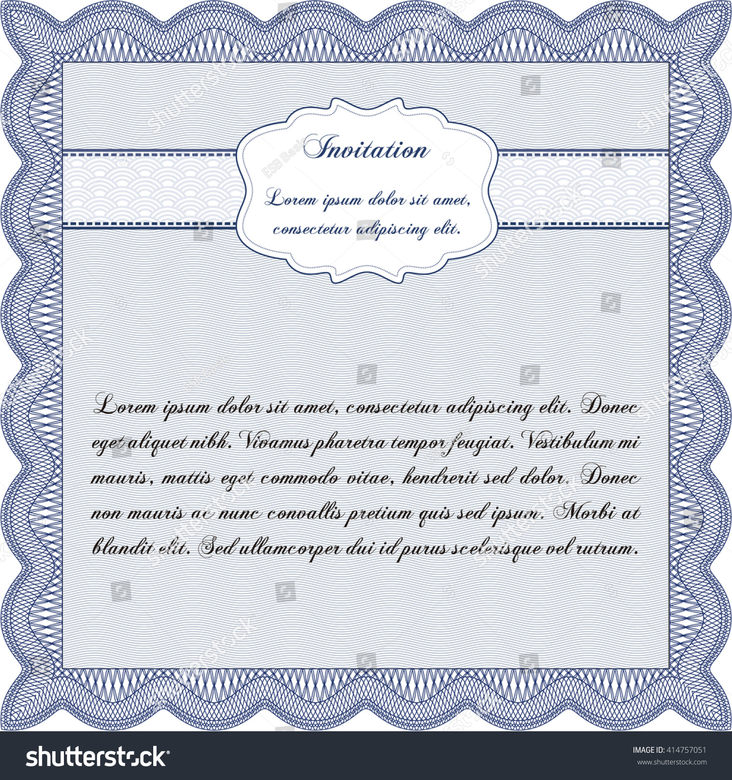 Formal invitation template complex background marriage invitation formal invitation template customizable easy edit stock vector stock vector formal invitation template customizable easy to stopboris Choice Image