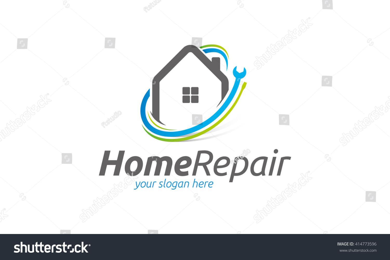 Home Repair Logo Stock...