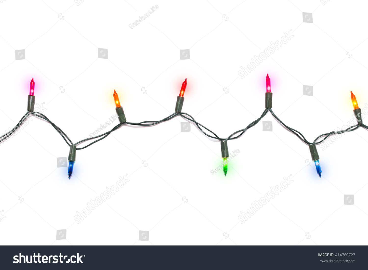 Christmas Lights Isolated On White Background Ez Canvas Wiring Diagram Of X Mas