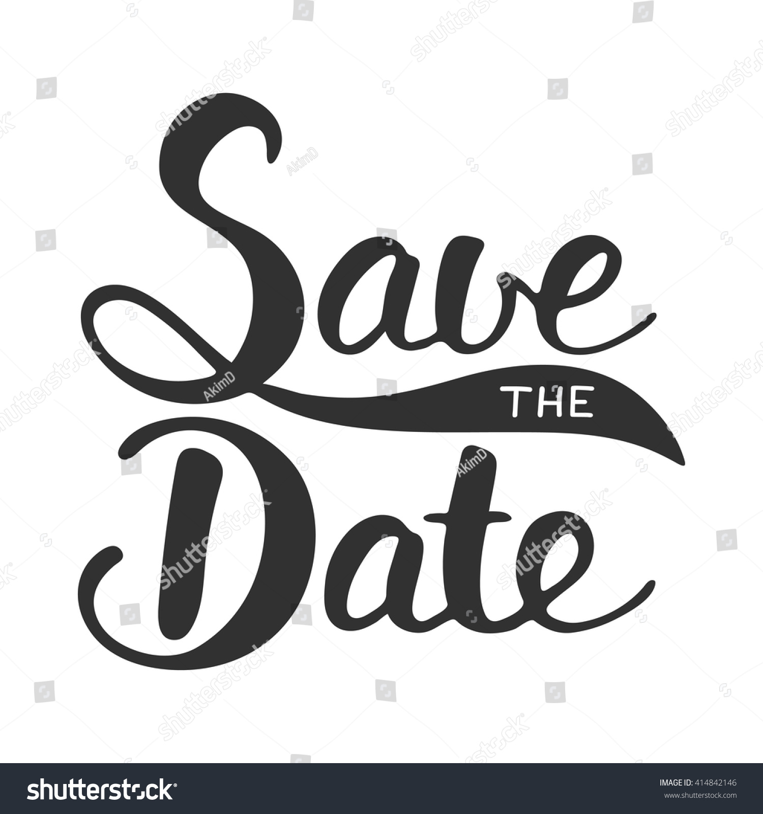 Save Date Invite Card Vector Template Stock Vector
