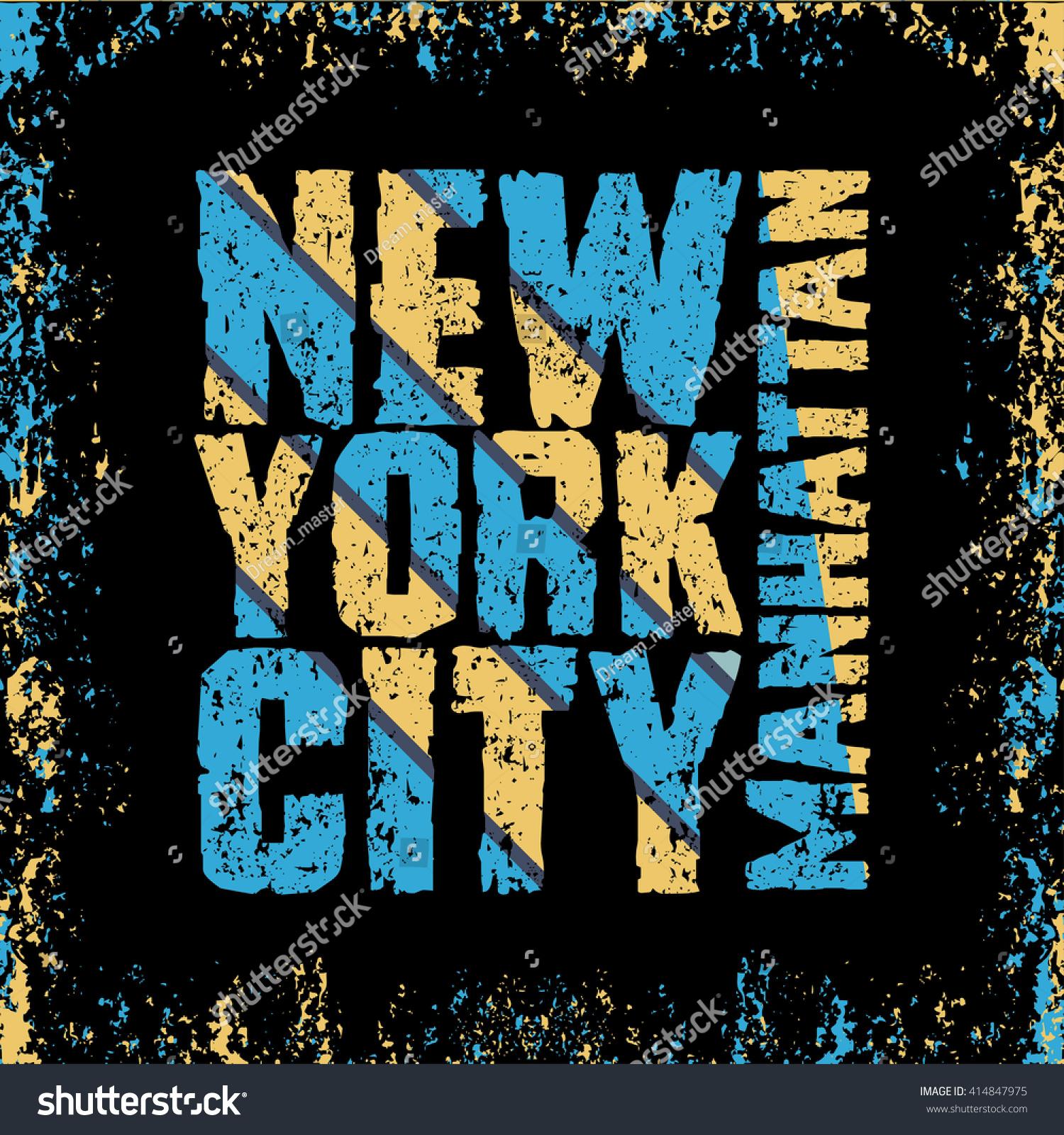 Design a t shirt nyc - New York Typography T Shirt Manhattan Design Graphic Printing Man Nyc