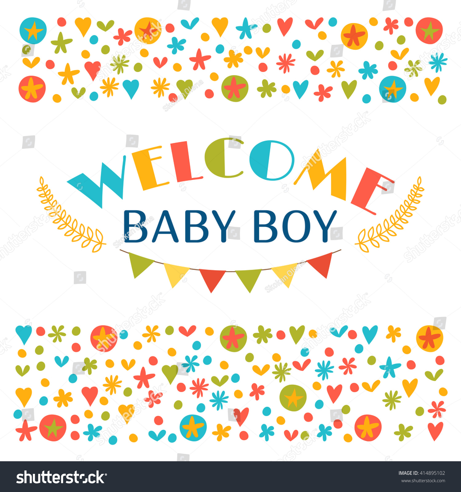 Wel e Baby Boy Baby Boy Shower Stock Vector Shutterstock