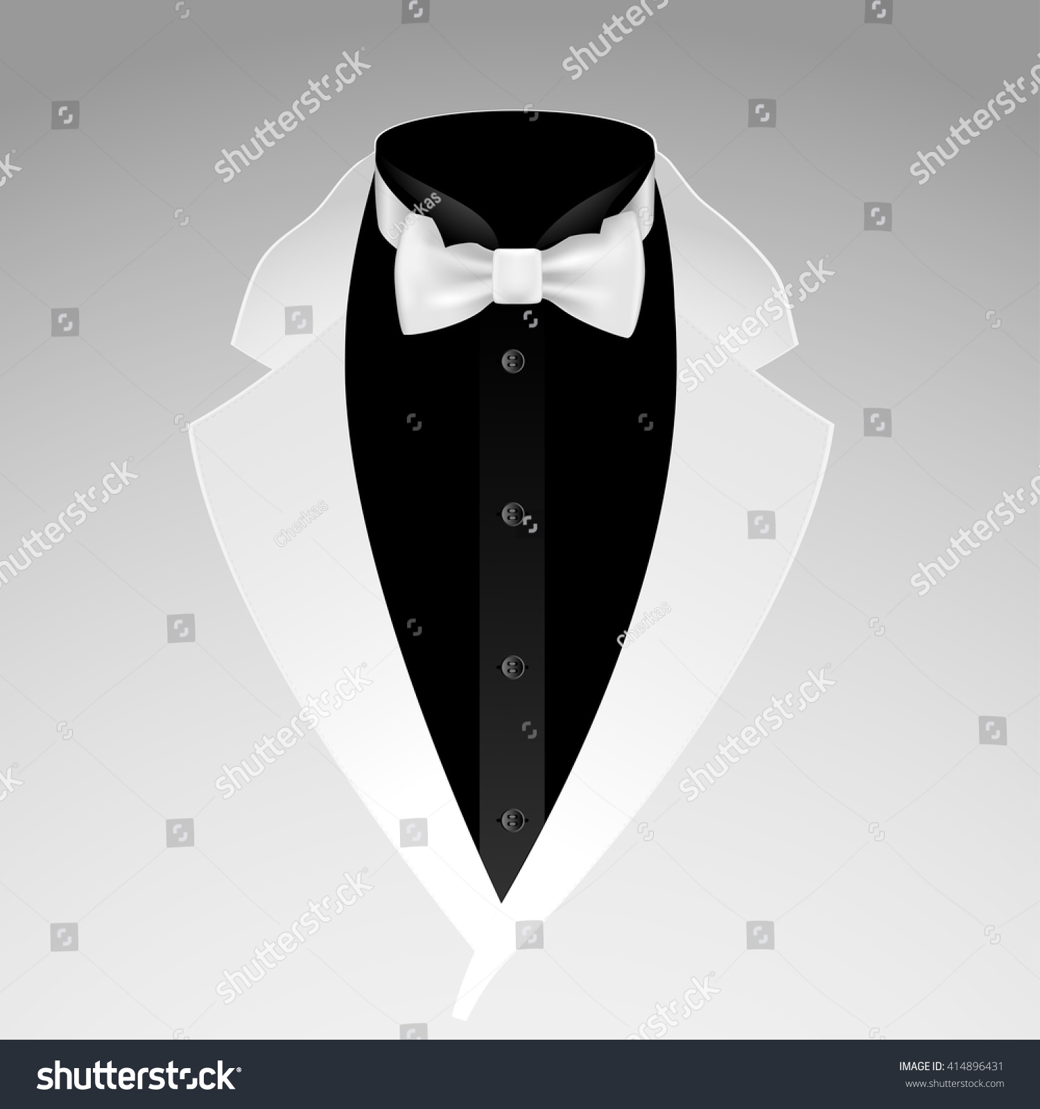 Illustration Tuxedo Bow Tie On Grey Stock Vector Royalty Free Tying Diagram Of With Background