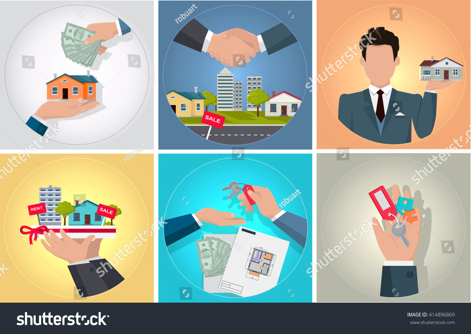 Sale purchase rental property bunch keys stock vector for How to get money to buy land