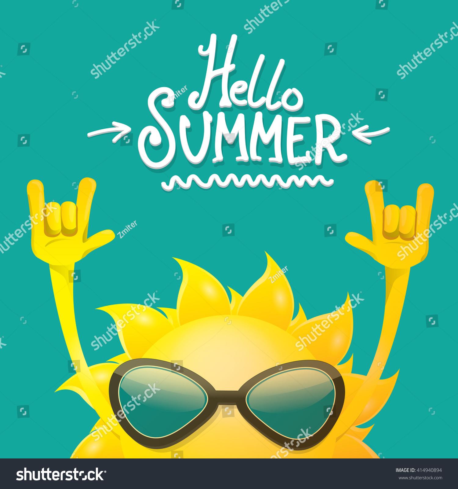 Rock n roll poster design - Hello Summer Rock N Roll Poster Summer Party Design Template