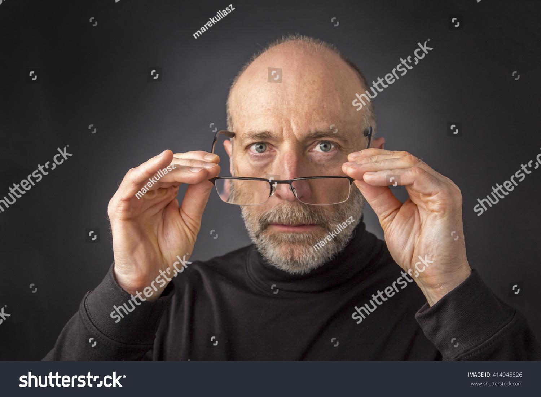 Look Over Reading Glasses Headshot 60 Stock Photo (Edit Now) 414945826