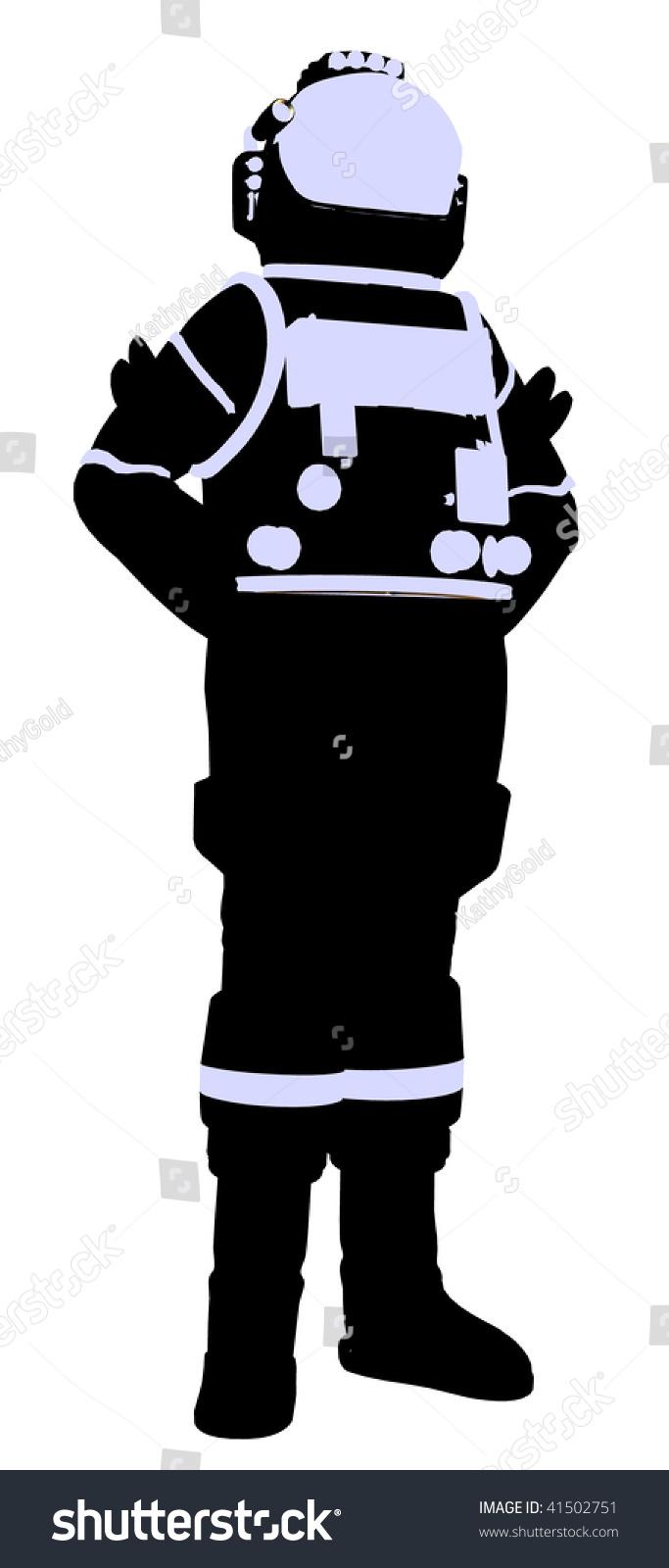 astronaut silhouette vector - photo #23