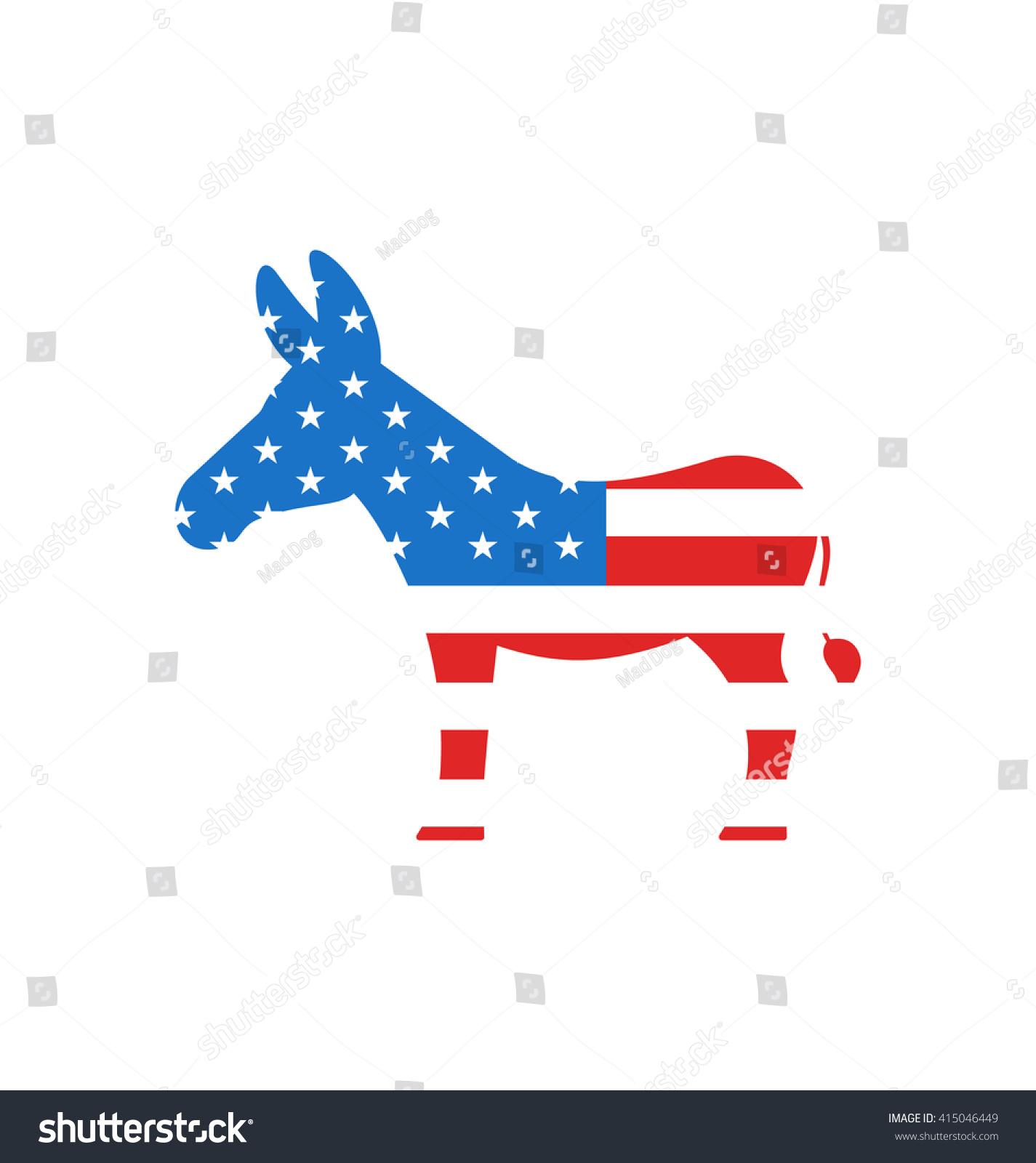 Illustration donkey symbol american democrats isolated stock illustration donkey as a symbol of american democrats isolated on white background american vote buycottarizona