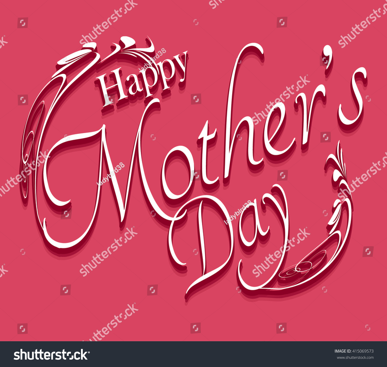 Happy mothers day lovely greeting card stock vector 415069573 happy mothers day lovely greeting card beautiful mothers day text kristyandbryce Choice Image